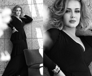 Adele, black, and celebrities image