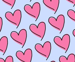wallpaper, pattern, and heart image