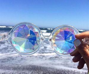 sunglasses, beach, and fashion image
