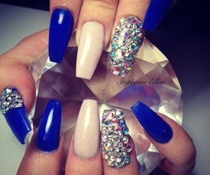 nails, shimmer, and blue image
