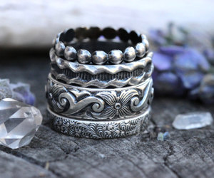 etsy, jewelry, and silver rings image