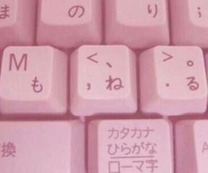 pink, keyboard, and japanese image