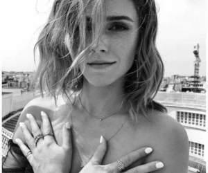 emma watson, beauty, and black and white image