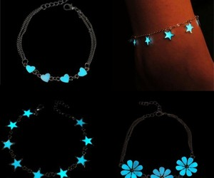 bracelets, night, and chains image