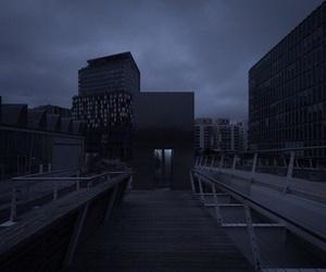 blue, city, and dark image