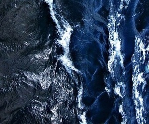 blue, waves, and dark image