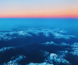 mountains, snow, and sunrise image