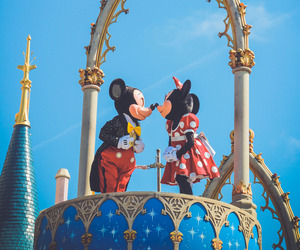 disney world, mickey mouse, and minnie mouse image