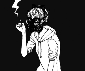 smoke, anime, and art image