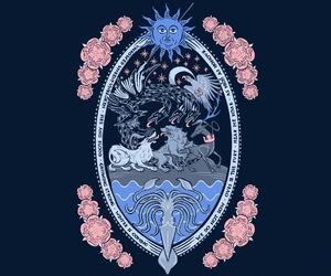 crests, illustration, and threadless image