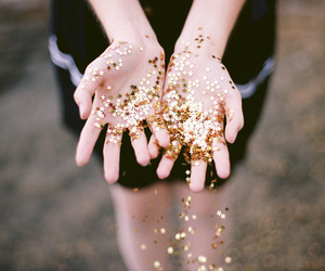 hands, girl, and stars image