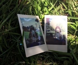 best friend, camera, and grass image