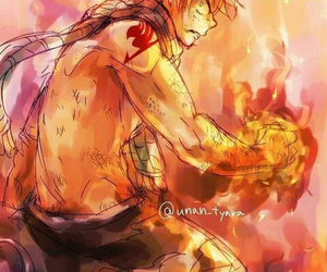 fire, fairy tail, and nalu image