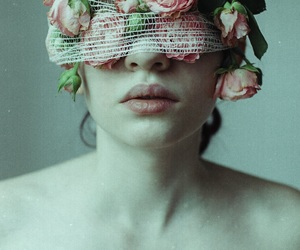 flowers, roses, and lips image