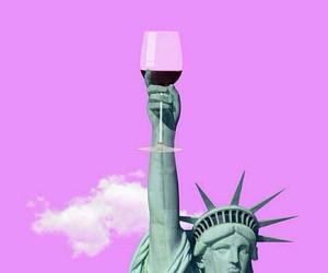 art, usa, and wine image