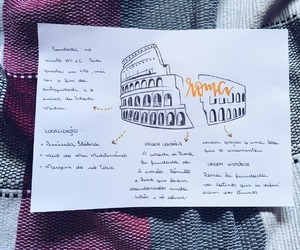 handwriting, rome, and study image