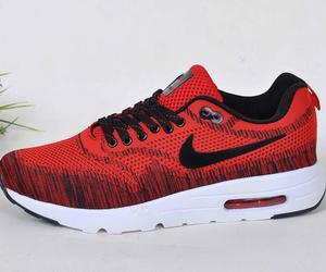 Womens Mens Nike Air Max 1 Ultra Moire Flyknit Red White