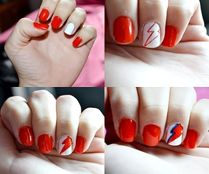 david bowie, nail art, and nails image