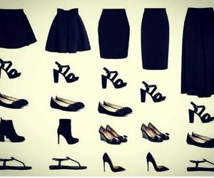 black, faldas, and fashion image