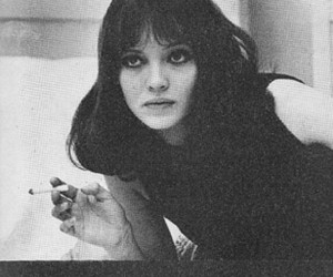 anna karina, cigarette, and black and white image