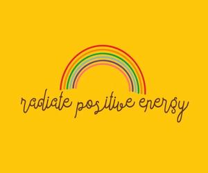 yellow, rainbow, and positive image