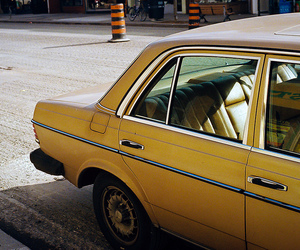 yellow, car, and vintage image