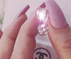 chanel, diamond, and earing image