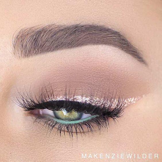 Maquillaje De Ojos Con Glitter Para