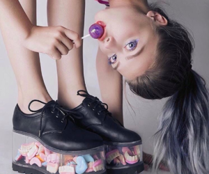 candy, shoes, and sweet image