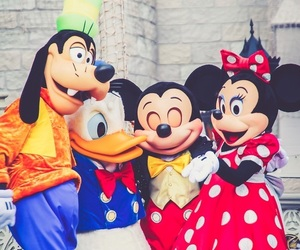 donald duck, goofy, and mickey mouse image