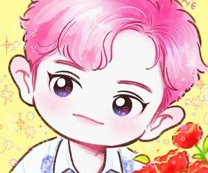 exo, chanyeol, and fanart image