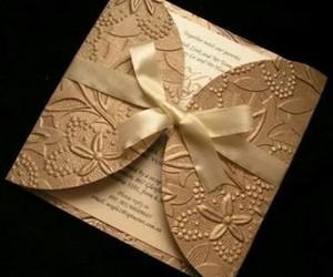 gold, invitation, and wedding image