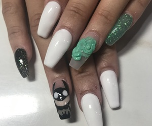batman, white, and coffin nails image