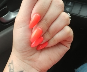 coral, nails, and neon image