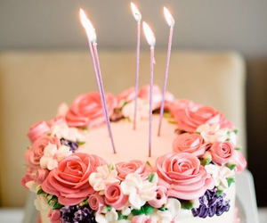 cake, birthday, and pink image
