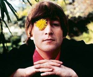 john lennon, the beatles, and flowers image