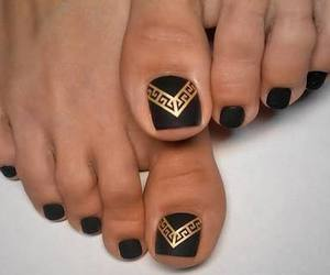 black, feet, and nails image