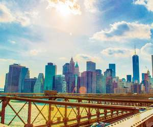 colors, landscape, and nyc image