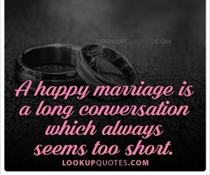 life, marriage, and quotes image