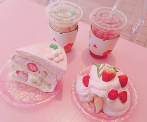 pink, cake, and food image