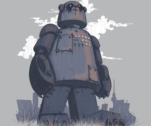 illustration, robots, and michelle li image