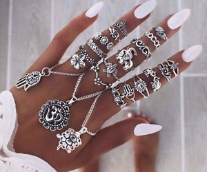 jewellery, white, and nails image