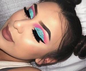 lashes, eyebrows, and eyeshadow image