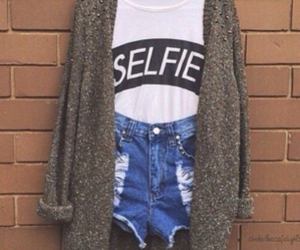 cloths, outfit, and selfie image