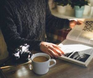 coffee, book, and photo image