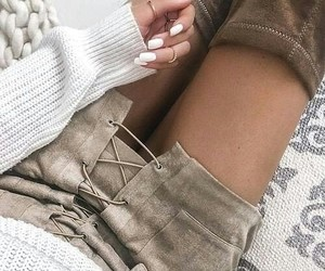 boots, fashion, and cosmetics image
