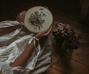embroidery, ethereal, and forest image