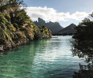 bora bora, nature, and travel image