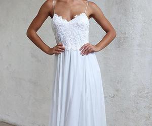 evening dress, prom dress, and chiffon dress image