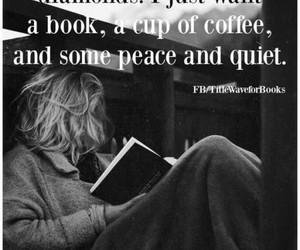 books, women, and coffee image